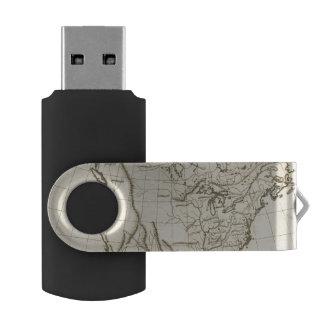 北アメリカの輪郭の地図 USBフラッシュドライブ