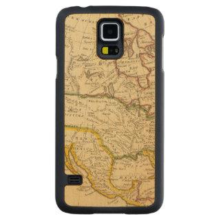 北アメリカは地図を刻みました CarvedメープルGalaxy S5スリムケース