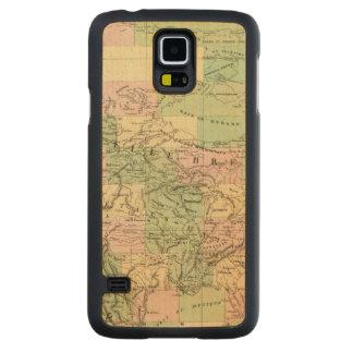 北アメリカアセンブリ地図 CarvedメープルGalaxy S5スリムケース