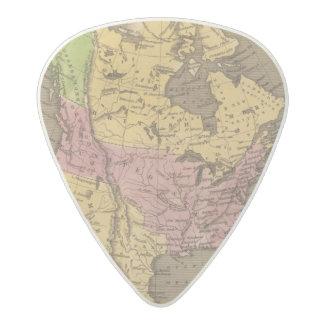 北アメリカ手の着色された地図書の地図 アセタール ギターピック