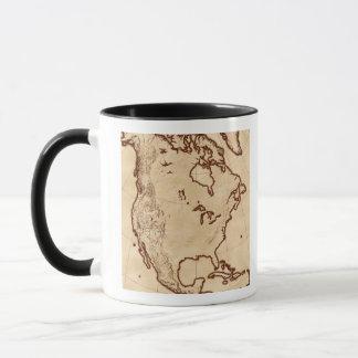 北アメリカ2の地図 マグカップ