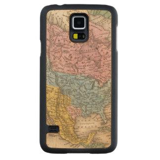北アメリカ2の地図 CarvedメープルGalaxy S5スリムケース