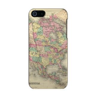 北アメリカ27 メタリックiPhone SE/5/5sケース
