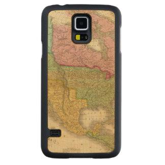 北アメリカ3の地図 CarvedメープルGalaxy S5スリムケース