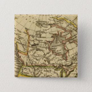 北アメリカ40 5.1CM 正方形バッジ