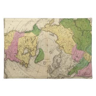 北アメリカ、アジア ランチョンマット