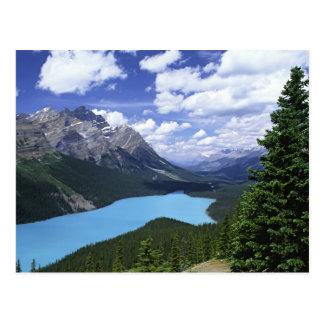 北アメリカ、カナダ、アルバータの碧玉6 ポストカード