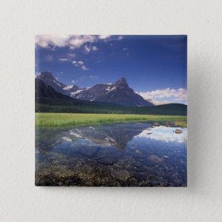 北アメリカ、カナダ、アルバータ、Banffの国民3 5.1cm 正方形バッジ