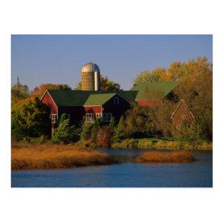 北アメリカ、米国、ウィスコンシン。 赤い納屋 ポストカード