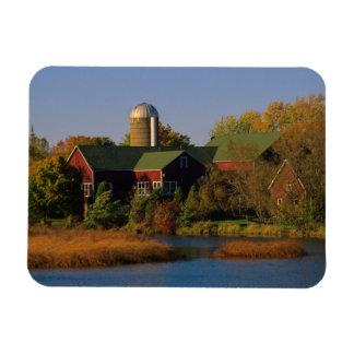 北アメリカ、米国、ウィスコンシン。 赤い納屋 マグネット