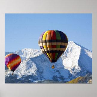 北アメリカ、米国、コロラド州、Mt.はビュートの頂点に達しました、 ポスター