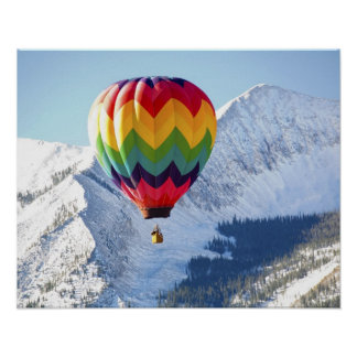 北アメリカ、米国、コロラド州、Mt.はビュート、2の頂点に達しました ポスター