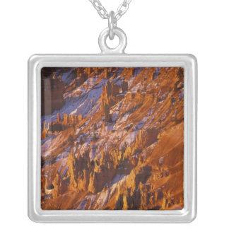 北アメリカ、米国、ユタのブライス渓谷 シルバープレートネックレス