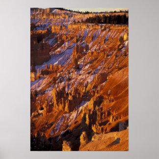 北アメリカ、米国、ユタのブライス渓谷 ポスター