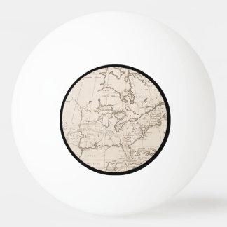 北アメリカ(1719年)のヴィンテージの地図 卓球ボール