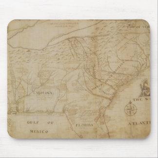 北アメリカ、172の南東部分の地図 マウスパッド