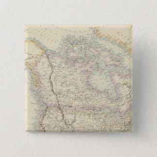 北アメリカ 5.1CM 正方形バッジ