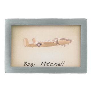 北アメリカB 25 Mitchell 長方形ベルトバックル
