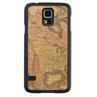 北アメリカOlneyの地図 CarvedメープルGalaxy S5スリムケース