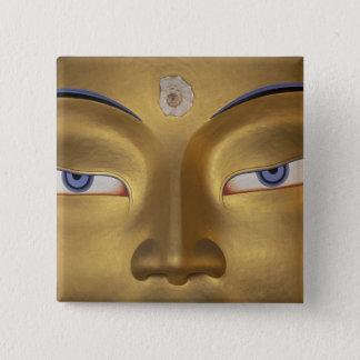 北インド、LadakhのThikseのgompa 5.1cm 正方形バッジ