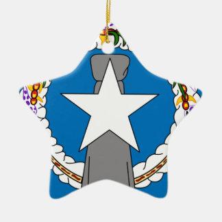 北マリアナ諸島(米国)の旗 セラミックオーナメント