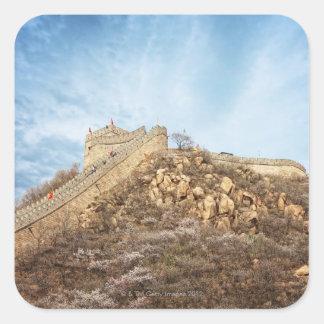 北京の外の万里の長城 スクエアシール