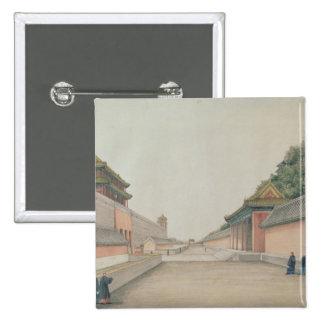 北京の帝国宮殿 5.1CM 正方形バッジ
