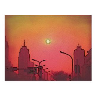 北京の日没 ポストカード