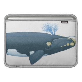 北太平洋のセミクジラのイラストレーション MacBook スリーブ