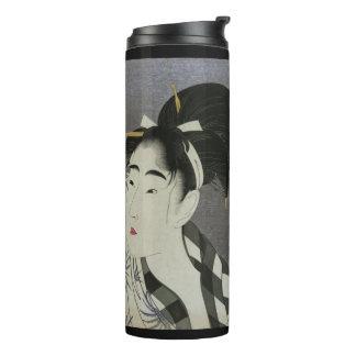 北川町Utamaro Ase O Fuku Onnaの芸術のタンブラー タンブラー