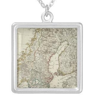 北州の新しい地図 シルバープレートネックレス