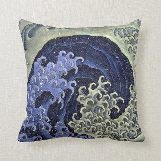 北斎の波、北斎のHokusaiの波、Hokusaiの日本芸術 クッション