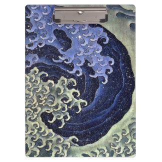 北斎の波、北斎のHokusaiの波、Hokusaiの日本芸術 クリップボード