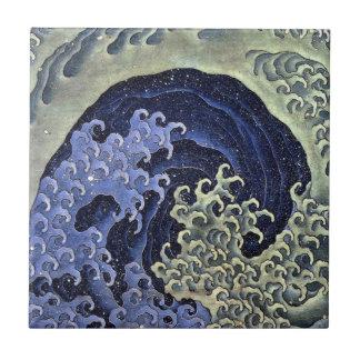 北斎の波、北斎のHokusaiの波、Hokusaiの浮世絵 タイル