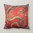 北斎の龍、北斎のHokusaiのドラゴン、Hokusaiの日本芸術 クッション