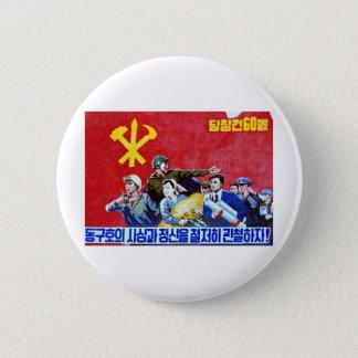 北朝鮮の共産党ポスター 5.7CM 丸型バッジ