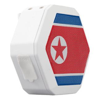 北朝鮮の旗 ホワイトBluetoothスピーカー