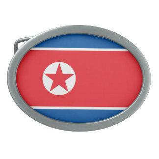 北朝鮮の旗 卵形バックル