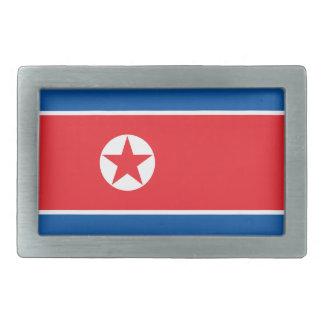 北朝鮮の旗 長方形ベルトバックル
