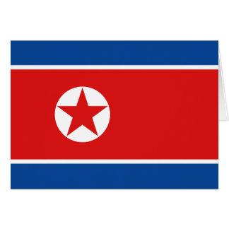 北朝鮮の旗Notecard カード