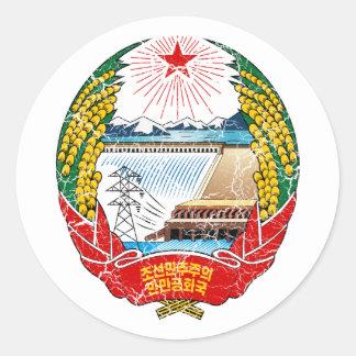北朝鮮の紋章付き外衣 ラウンドシール