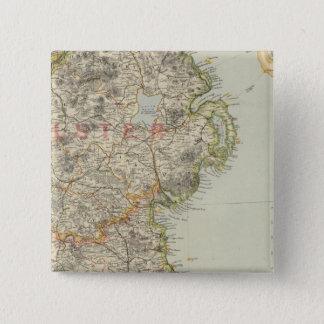北東アイルランド 5.1CM 正方形バッジ