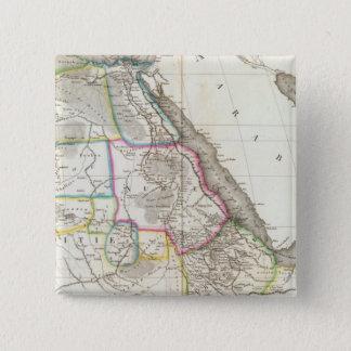 北東アフリカ 5.1CM 正方形バッジ