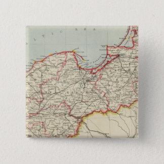 北東ドイツ帝国 5.1CM 正方形バッジ