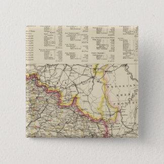 北東フランス 5.1CM 正方形バッジ