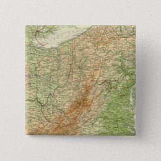 北東州 5.1CM 正方形バッジ