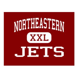 北東-ジェット機-高スプリングフィールドオハイオ州 ポストカード