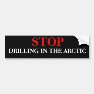 北極であく停止 バンパーステッカー