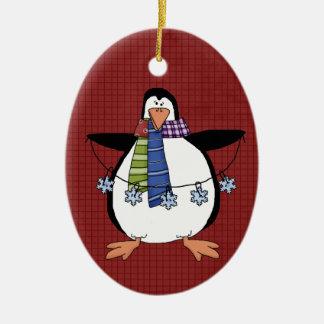 北極のペンギンの陶磁器のクリスマスのオーナメント セラミックオーナメント