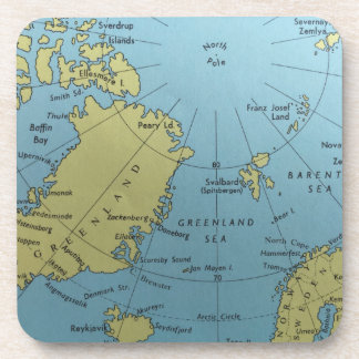 北極のヴィンテージの地図 コースター